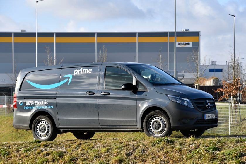 Vans are charged directly at the fulfilment center where suitably powered charging...