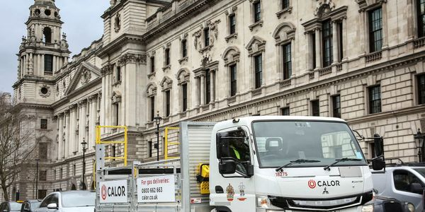 Emitting zero emissions, the FUSO eCanter is now delivering the company's bottled butane and...