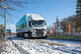 Electric Truck Tested on Public Wireless Electric Road