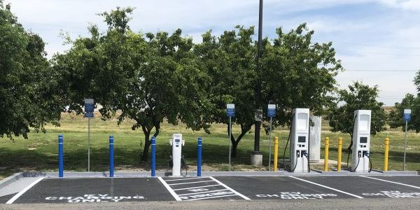 The charging stations at Love's Tulare location are the result of a partnership between...