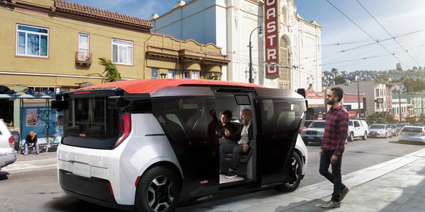 Created by GM's subsidiary Cruise, the all-electric Origin does not have a steering wheel or...