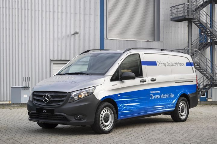 New electric powertrain options for commercial vans will be unveiled to the public at the Commercial Vehicle Show the NEC Birmingham, 28-30 April 2020. - Photo via Mercedes.