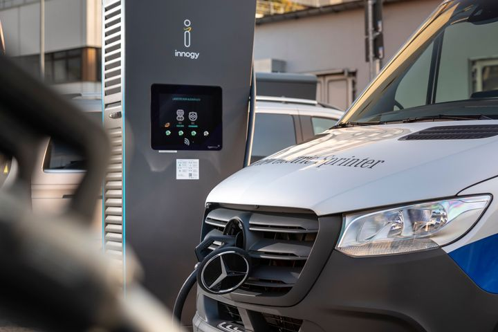 The van is also available to commercial customers who deliver goods locally emission-free, drive to the building site, or take care of maintenance work.  - Photo courtesy Mercedes-Benz.
