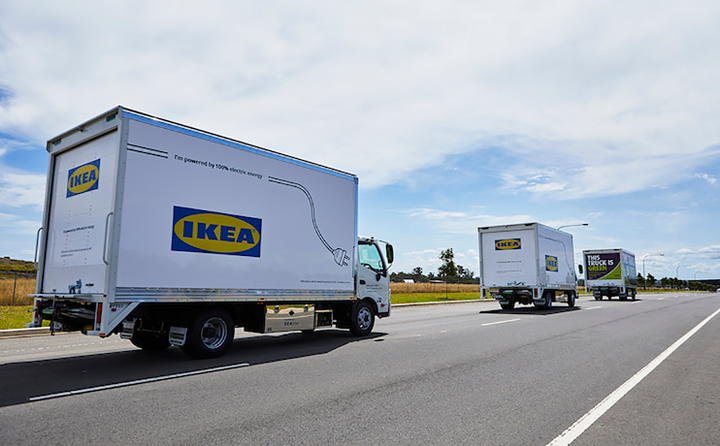 All Purpose Transport is aiming for 10% of its Ikea delivery fleet to be all-electric by the end of 2020. - Photo via SEA.