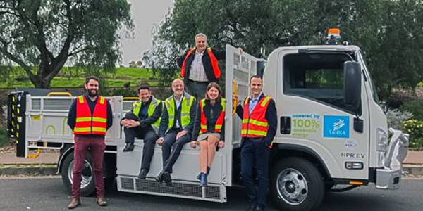 The Yarra City Council intends to use the electric tipper for hard rubbish collections and is...