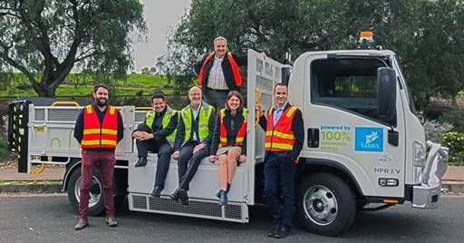 The Yarra City Council intends to use the electric tipper for hard rubbish collections and is exploring how to transition to electric garbage and recycling trucks over the next five years.  - Photo courtesy of SEA.