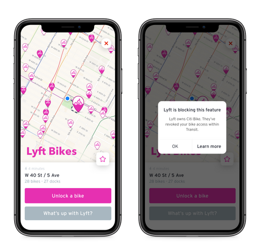 In 2018, Lyft bought Motivate, which ranCiti Bike in New York and Divvy in Chicago, among other ventures. - Photo via Transit.