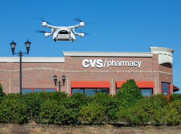 "In November, UPS made the first ""revenue-generating"" drone delivery of a medical prescription from a CVS Pharmacy in Cary, N.C. to a patient's home. - Photo via UPS."