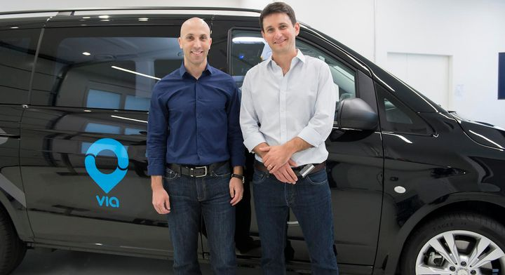 Daniel Ramot and Oren Shoval, co-founders of Via, a digital infrastructure provider, have purchased Fleetonomy, a fleet management software developer. Photo courtesy of Via. - Photo courtesy of Via.