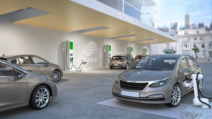 Electrify America And Stable Announce Collaboration to Deploy Robotic Fast-Charging Facility for Self-Driving Electric Vehicle Fleets. - Photo via Electrify America.