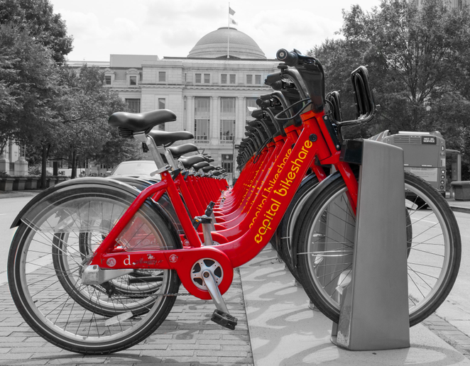 In addition to ride-hailing, bikeshare, and public transit information, users can also unlock Lyft scooters with the app. - Photo via KyleAnderson/Flickr.