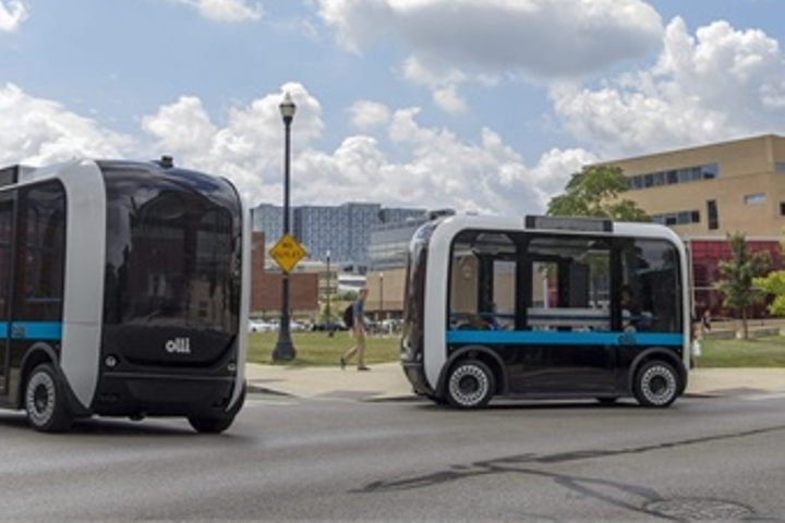 The City of Rancho Cordova ran a three-month pilot project featuring Olli, a 3D printed, self-driving shuttle developed by Local Motors. - Photo via Local Motors.