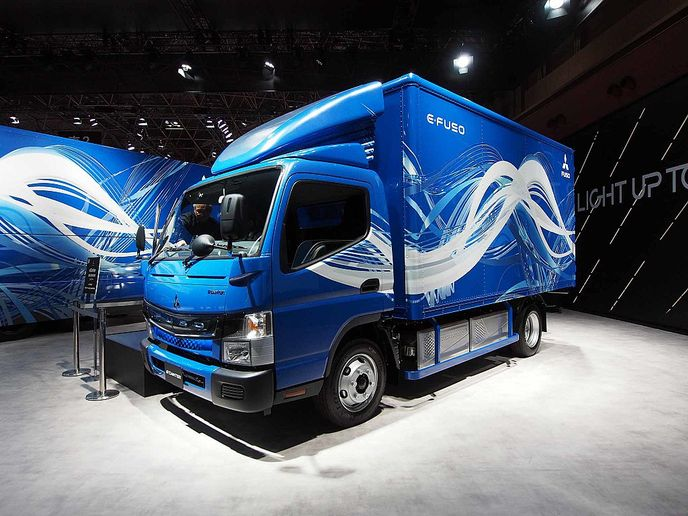 With its eCanter, Fuso was the industry's first OEM to offer a series produced all-electric truck. But with Fuso exiting the North American market, the eCanter will go with it.  - Photo via Comyu/Wikimedia Commons.