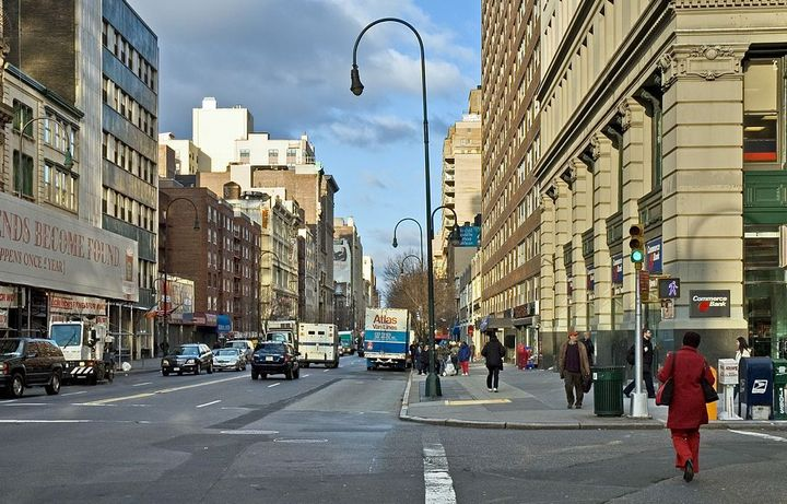 From 6 a.m. to 10 p.m., passenger vehicles are now prohibited from accessing 14th Street between Third and Ninth avenues. - Photo via Wikimedia.
