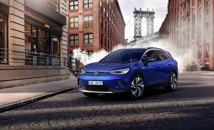 The compact SUV will offer all the features of Volkswagen's current lineup along with long-range EV capability and three years of fast charging with Electrify America for no additional cost. - Photo via Volkswagen.