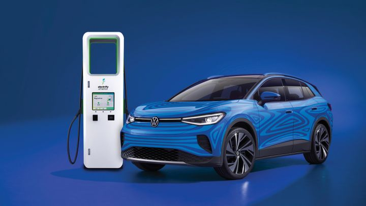 Electrify America is currently the only open, public charging network to offer chargers with power levels up to 350 kilowatts. - Photo via Volkswagen.
