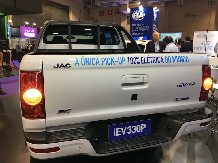 JACMotors'product plansfor Brazilincludeanelectric pickup (iEV330p), to launch in the...