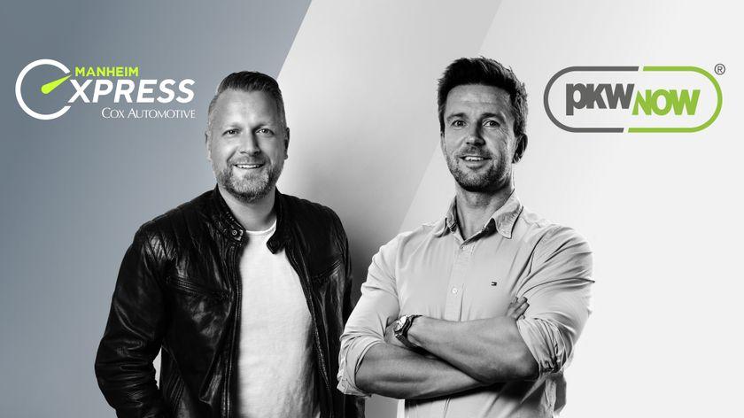 Sebastian Fuchs, Managing Director of Manheim Express (left) with pkwNOW Chief Executive Rick...