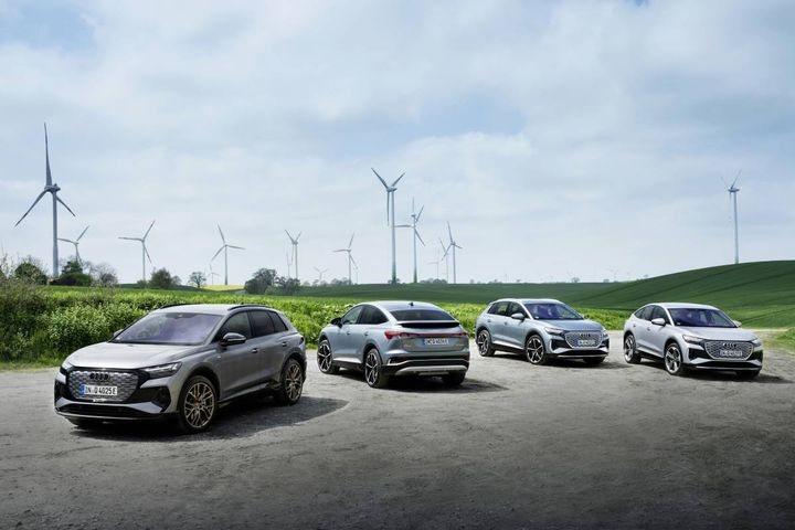 Audi revelead several major efforts toachieve net-zero emissions by 2050. With the new e-tron models, Audi is already launching more electric cars than models with combustion engines. - Photo: Audi AG