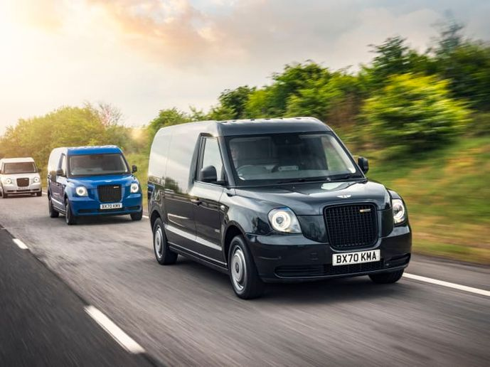 London Electric Vehicle Company (LEVC) produces TX electric taxis and VN5 electric vans - Credit; LEVC