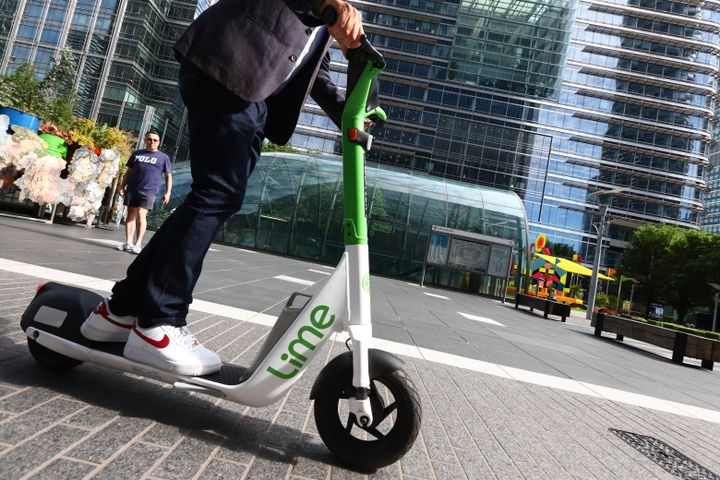 E-scooters can only be ridden in designated areas. - Credit: Transport for London