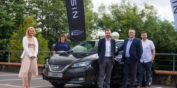 Pictured from left to right are: Rebecca Preston, general manager, NHS Fleet Solutions; Liz...