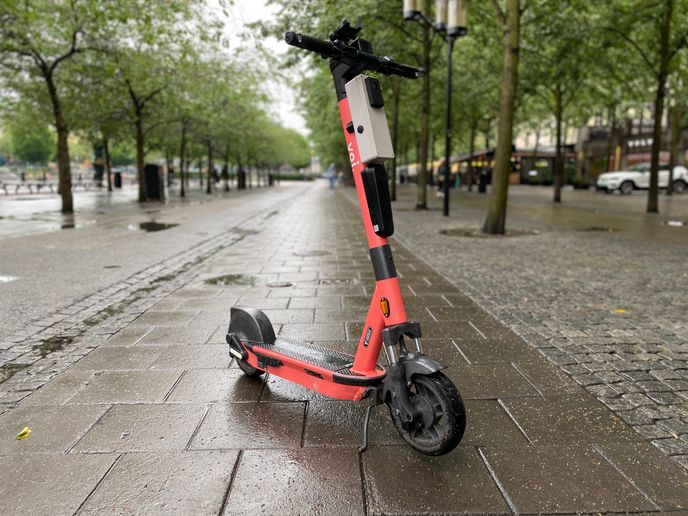 A new pilot scheme in Northampton involved Voi e-scooters fitted with Luna technology to encourage and develop safer driving. - Credit: Voi