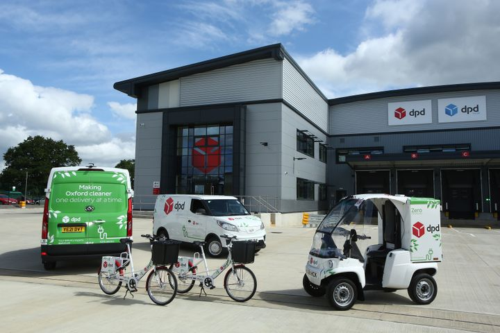 DPD's zero emission fleet at its Bicester depot. - Credit: DPD UK
