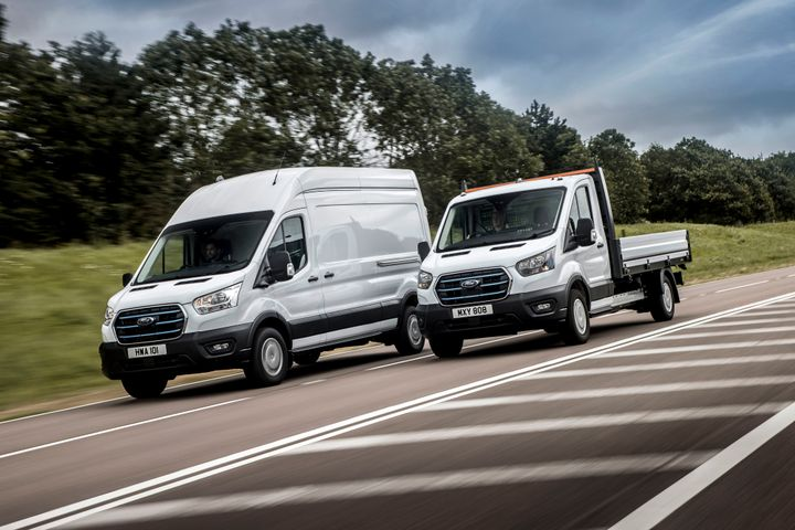Ford is undertaking a fleet trial of its E-Transit in selected European markets, including conversions such as a dropside. - Credit: Ford of Britain.