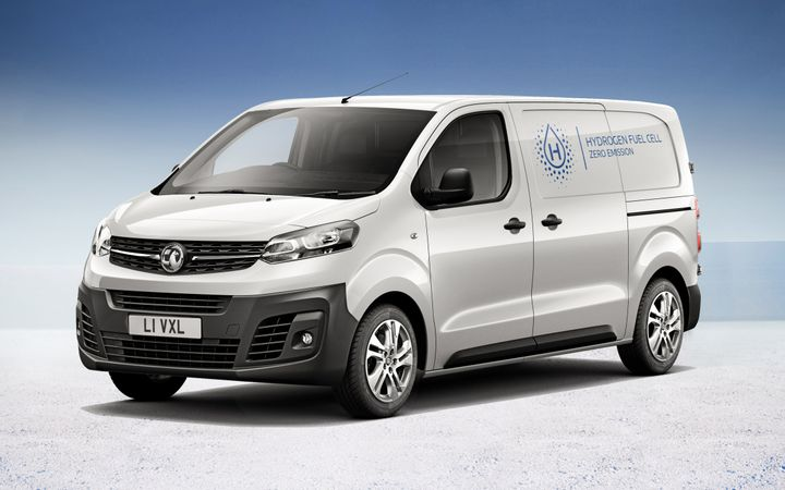 Also on display at the Commercial Vehicle Show will be the Vivaro-e Hydrogen. Range is 249 miles, while the van can be refuelled in under three minutes. - Credit: Vauxhall Motors.