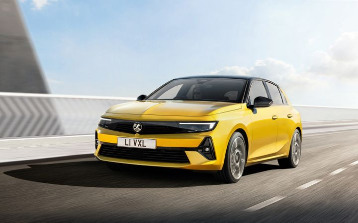 New Vauxhall/Opel Astra will feature a fully electric version for the first time, due 2023. - Credit: Vauxhall Motors