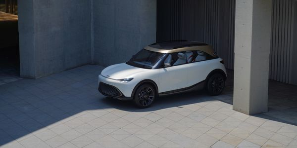This smart SUV concept, when it goes into production, will be the first smart to be available...