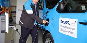 Prime Minister Boris Johnson Takes Delivery of the 500th British Gas Fleet Electric Van