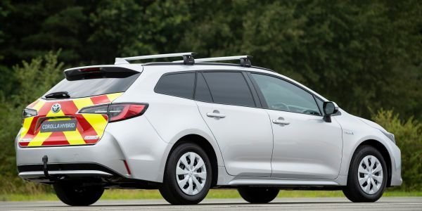 Toyota debuted its new Corolla Touring based Commercial Van at the Commercial Vehicle Show in...