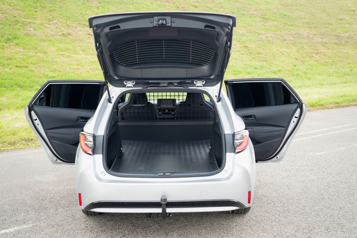 The Toyota Corolla Touring Commercial Van features a flat load area. without suspension intrusion - Credit:Toyota (GB)