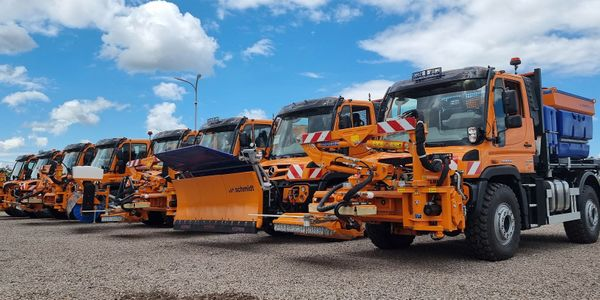 The 135 Unimog vehicles will be well equipped to handle most any road work or blockage around...