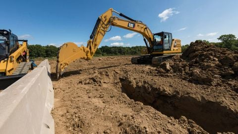 Caterpillar's 20-ton and 36-ton excavators include an e-fence feature, which helps the machines...