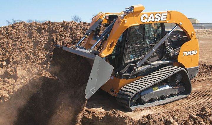 Case's large compact track loader can be used for powerful digging or ripping up roads. 