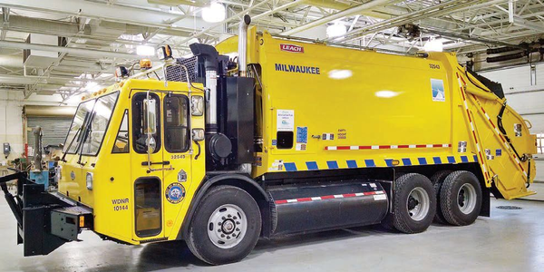 The City of Milwaukee uses refuse trucks powered by compressed natural gas.