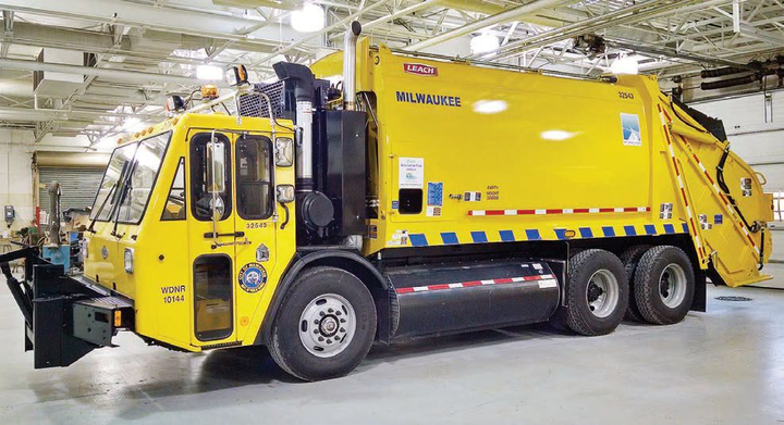 The City of Milwaukee uses refuse trucks powered by compressed natural gas.  - Photo courtesy of City of Milwaukee