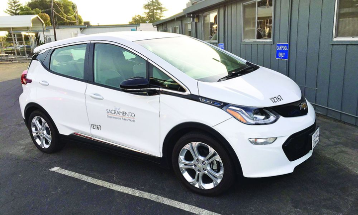 The City of Sacramento, Calif., is going electric with Chevrolet Bolts.  - Photo courtesy of City of Sacramento