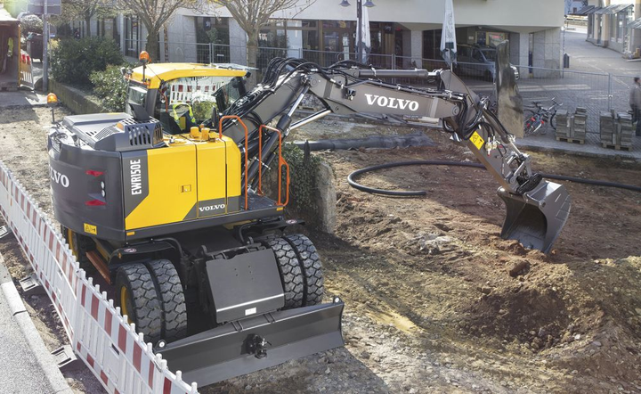 The short swing EWR150E (pictured) allows operators to work in small areas.  - Photo couresy of Volvo Construction Equipment