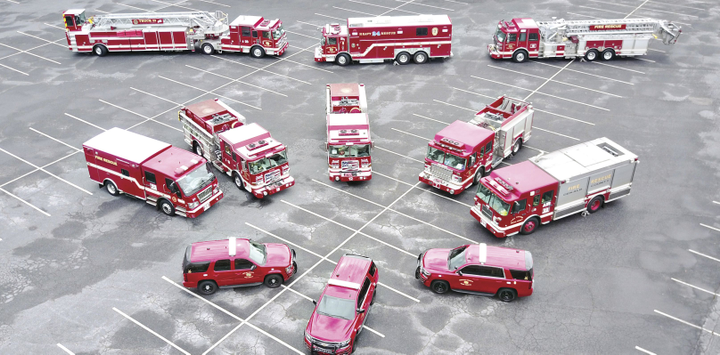 The DeKalb County Fire Rescue Department's fleet consists of various equipment, and previously, its large fire trucks went out on every call. 