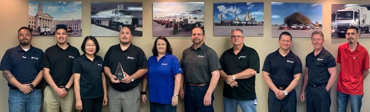 The fleet management team consists of (l-r): Robert Green, Donnie Cruz, Young-Hee Lewis, Brad Salazar, Denise Pitts, John Essex, Bill Zollo, Mauricio Medrano, Gary Bales, and Randy Romero.