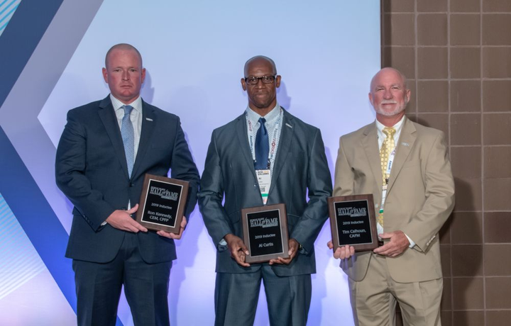 Government Fleet welcomed (l-r) Ron Kennedy, Al Curtis, and Tim Calhoun into the Public Fleet Hall of Fame.