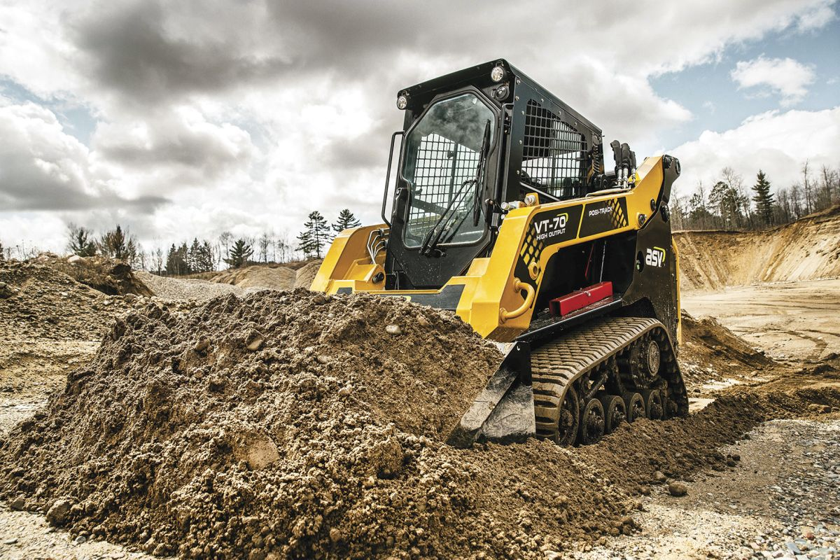 The ASV VT-70 High-Output Posi-Track Loader is an all-season vehicle that works equally well in wet mud and snow.  - Photo courtesy of ASV