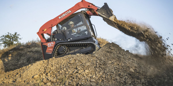 Kubota's SVL65-2 compact track loader is a smaller machine with a high-rated operating capacity...
