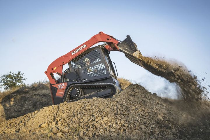 Kubota's SVL65-2 compact track loader is a smaller machine with a high-rated operating capacity and ample cab size.