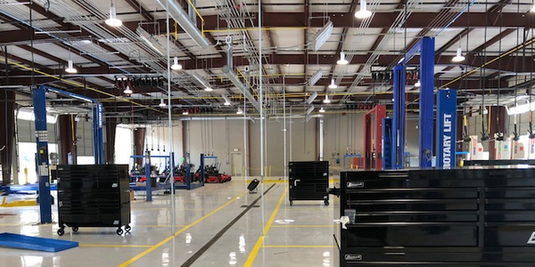 The $1.4 million renovated facility combines three separate fleet facilities into one.