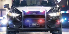 Hybrid Police Vehicles Ready for Patrol